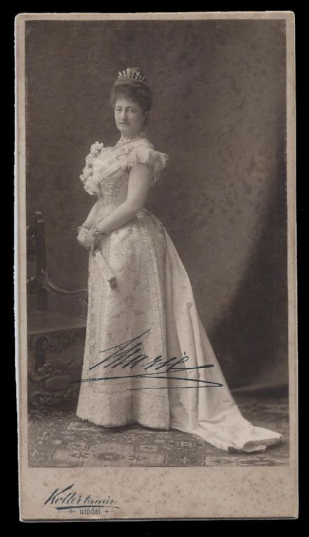 Archduchess Maria Dorothea of Austria Signed Cabinet Photo by Karoly of Utodai
